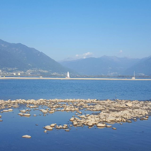 Pochi giorni fa lagomaggiore Ascona foce spiaggia lakemaggiore lagoverbano verbanohellip